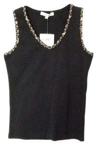 CAbi Beaded Shells Top Black