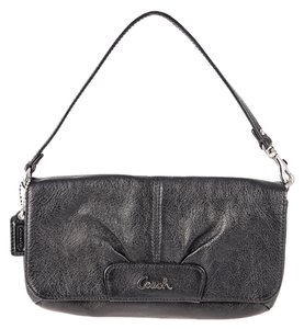 Coach Leather Pebbled Leather Large Wristlet Shoulder Bag