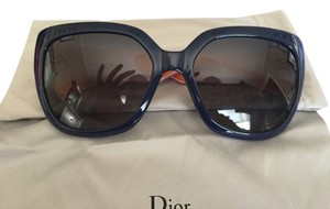 Dior Christian Dior 'My Dior 3 R' Oversized Sunglasses in Blue w/Pink Accents