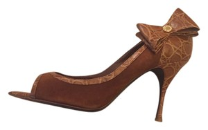 Hollywould Italian Leather Suede Pump Caramel Pumps