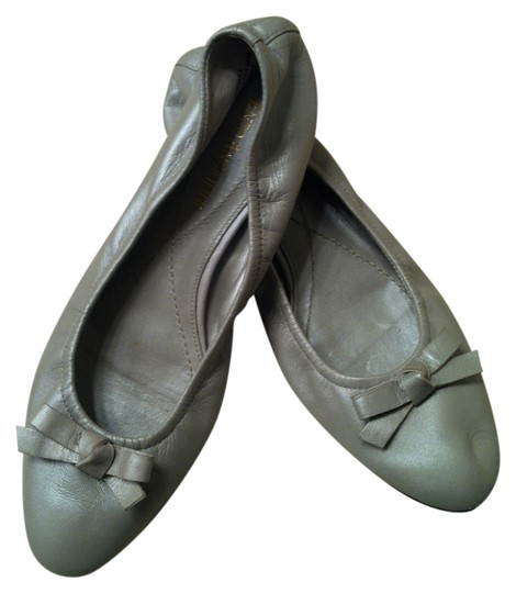 Enzo Angiolini - Made in Italy Ballet Bow Genue Leather Dove Gray Flats