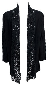 Curio NY Open Front Sweater Crochet Lace Cardigan