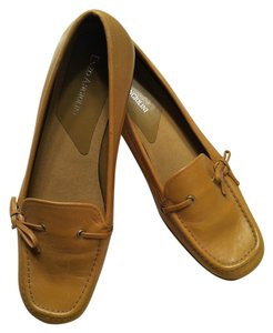 Enzo Angiolini - Made in Italy Driving Mocs Genuine Leather Camel Flats