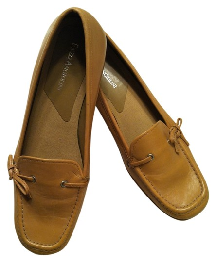 Enzo Angiolini - Made in Italy Drivg Mocs Genue Leather Camel Flats
