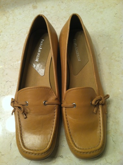 Enzo Angiolini - Made in Italy Driving Mocs Genuine Leather Camel Flats Image 1