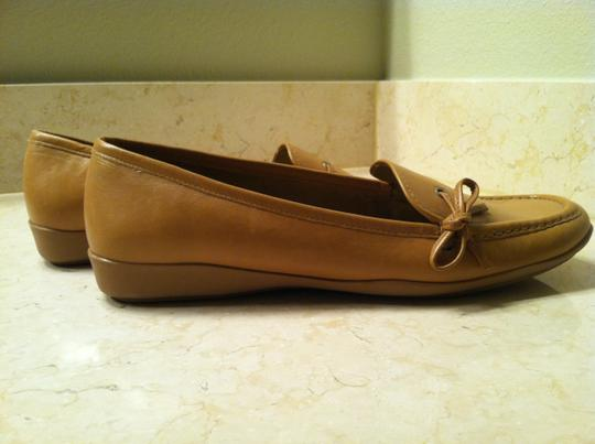Enzo Angiolini - Made in Italy Driving Mocs Genuine Leather Camel Flats Image 2