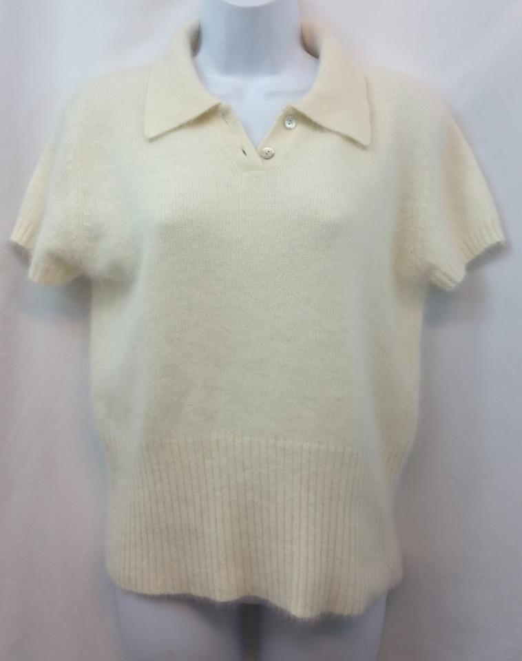 The Limited Creme Angora Rabbit Hair Blend Knit M Blouse Size 10 (M ... 64089c4cd