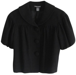 Chelsea & Theodore Tweed Fully Lined Chic Black Jacket