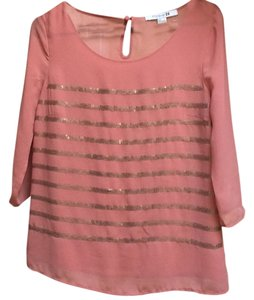 Forever 21 Top Burnt red/ soft creamy muted orange/red
