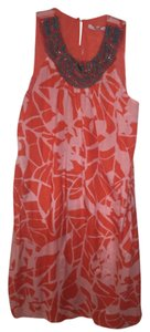 Collective Concepts short dress Orange with wood beads on Tradesy