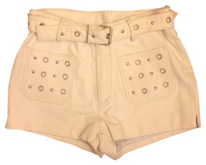 Maxima Shorts White leather