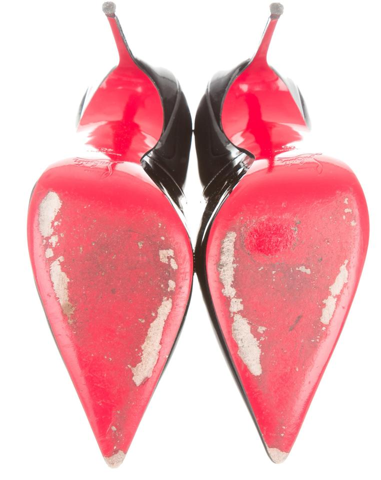 christian louboutin patent leather pointed-toe flats w tags