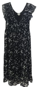 Converse short dress Black, White, Floral Target Babydoll on Tradesy