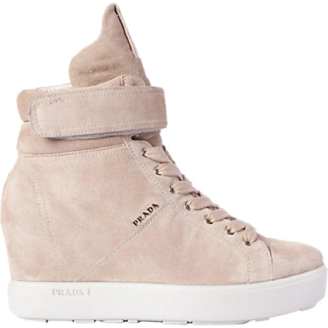 Item - Beige Suede High Top Wedge Sneakers Size US 5.5 Regular (M, B)