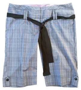 Stooshy Menswear Plaid Night Out Dress Shorts Grey