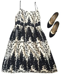 Ann Taylor short dress Black and cream on Tradesy