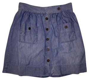 J.Crew Mini Skirt Chambray