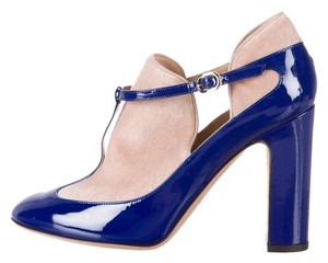 Valentino Royal Blue Tan Nude Blue, Beige Boots