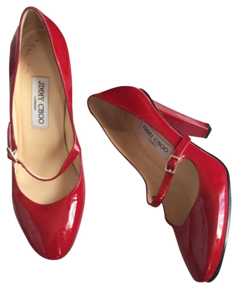 c83c4312616 Jimmy Choo Red Mary Janes Formal Shoes Size US 8.5 Narrow (Aa