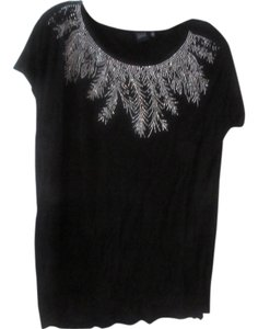 Saks Fifth Avenue T Shirt black with sparkles