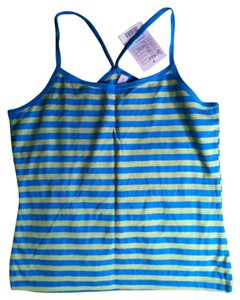Urban Outfitters Turquoise Top Turquoise/lime green stripes