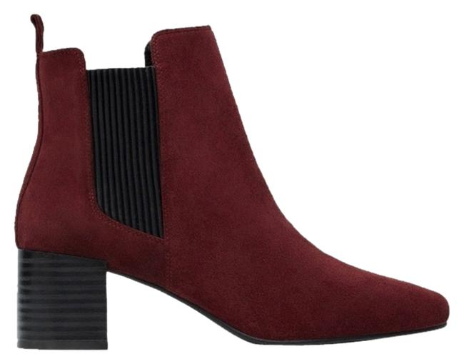 Item - Red Burgundy New Tags Suede Block Ankle Heels Boots/Booties Size US 6.5 Regular (M, B)