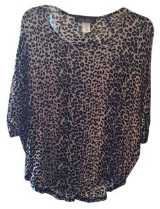 Blue Rain Top Leopard