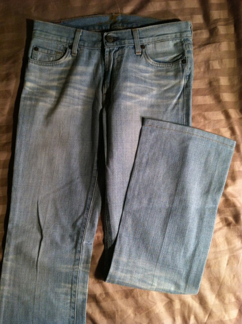 7 For All Mankind Seven Boot Cut Jeans-Light Wash Image 3