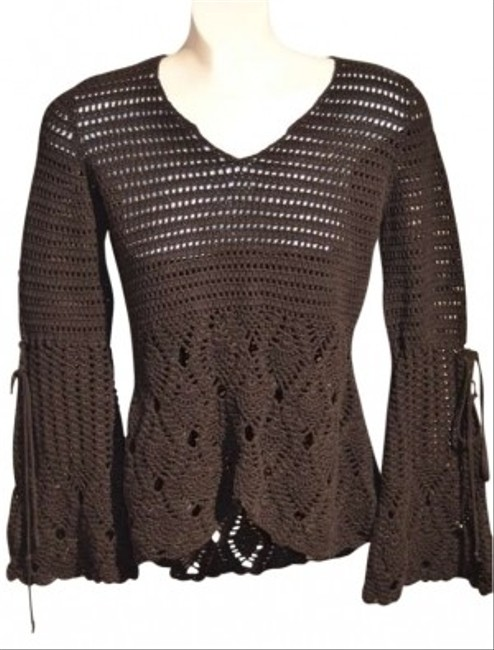 Cama SOI Lace Knit Cotton Adorable Fancy Wide Cuffs Sweater