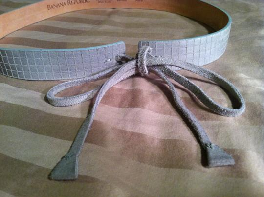 Banana Republic Banana Republic Dove Gray Genuine Leather belt with snakeskin pattern