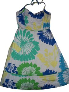 Lilly Pulitzer short dress Green white teal blue yellow on Tradesy