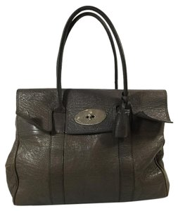 Mulberry Soft Leather Grey Day Leather Classic Tote in Mole Grey