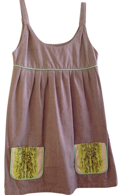 Roberta Oaks short dress Taupe on Tradesy