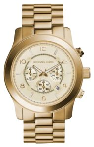 Michael Kors -Oversized Watch -Push Clasp -Water Resistant Up To 5 ATM