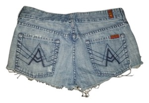 7 For All Mankind Jeans Cutoffs A Line Shorts blue