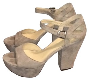 Via Spiga Taupe Platforms