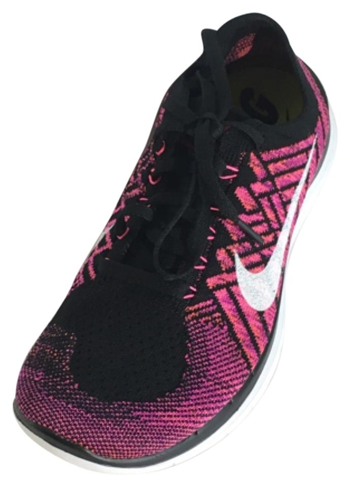 d5a2f7e40ace Nike Free 4.0 Flyknit Running Gym Workout Yoga Comfortable Casual Stylish  Black Pink Fushia Athletic Image ...