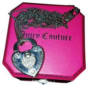 Juicy Couture Juicy Couture silver secure lock necklace