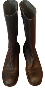 Jil Sander Buttery Leather Midcalf Black Boots