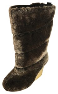 Tory Burch Wedge Shearling Boots