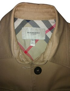 Burberry Made In Italy 98% Cotton Khaki/Tan Jacket