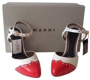 Marni White and Red Pumps