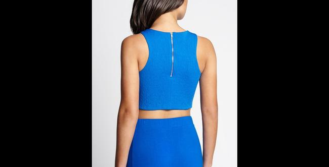 Guess Crop Croptop Short Exposed Zipper Texture Going Small S G By Top Blue