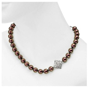 Misaki Misaki Black Plum Pearl necklace Stainless