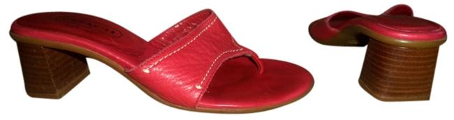 Item - Red Annemarie Made In Italy Leather Sandals Size US 5 Regular (M, B)