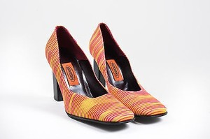 Missoni Pink Yellow Taupe Multi-Color Pumps