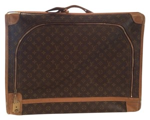 Louis Vuitton Brown And Tan Travel Bag