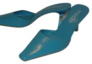 Moda International 10m Turquoise Mules