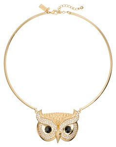 Kate Spade NEW kate spade New York Owl Collar Necklace Into the Woods Collection 12k Gold