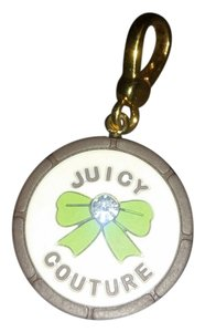 Juicy Couture Juicy Couture green bow circle charm